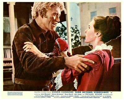 Ride Beyond Vengeance original lobby card Chuck Connors Kathryn Hays