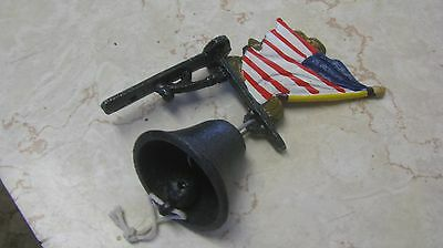American soldier dinner bell, cast iron, free shipping