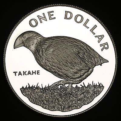 1982 New Zealand Dollar KM# 51a Silver Proof $1 FDC GEM Takahe Bird