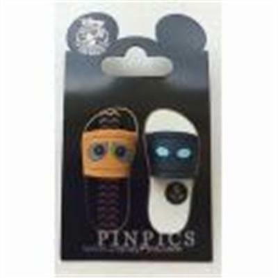 Wall-E & Eve Sandals/flip Flops 2 Pin Set Disney Pin 110126