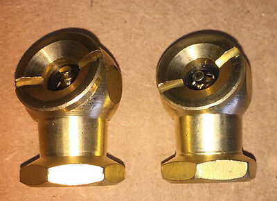 "2 pc New Air Solid Brass Ball Tire Chuck Inflation Tool 1/4"" NPT Auto Bicycle"