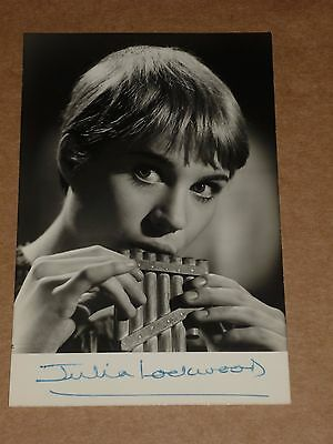 Julia Lockwood (Peter Pan) 5 x 3 early 1960s Agency Publicity Photo(Hand Signed)