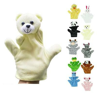 Baby Child Cute Zoo Farm Animal Hand Sock Glove Puppet Finger Sack Plush Gloves