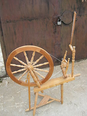 "Vintage 1983 SPINNING WHEEL Sweden Big Wheel 24"" Excellent"