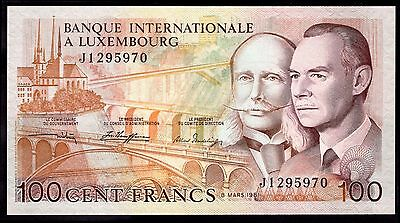 Luxembourg. 100 Francs, J1 295970, 8-3-1981, Almost Uncirculated-Uncirculated.