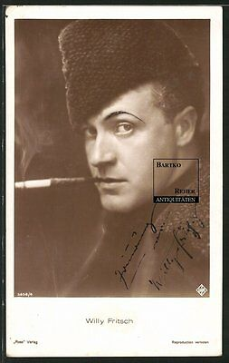 Willy Fritsch Schauspieler Original Autograph Ross-Foto-AK ca. 1940 Ufa - Film