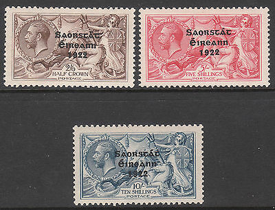 Ireland 1922 #64 #65 #66 Mint Seahorses Stamps
