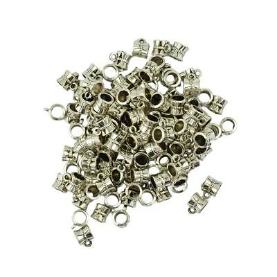 100 Pieces Spacer Beads Charm Bracelets Hanger Beads Dangle Spacer Findings