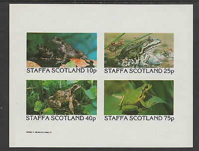 GB Locals - Staffa 3504 - 1982 FROGS imperf sheet of 4  unmounted mint