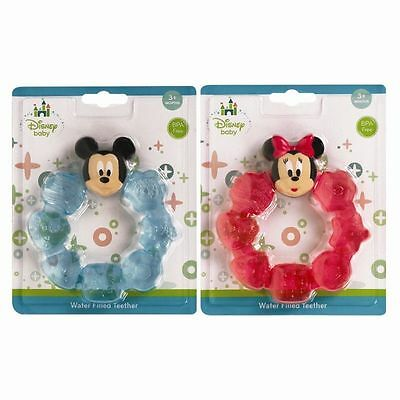 Minnie / Mickey Mouse Disney Water Filled Baby Teething Ring Soother