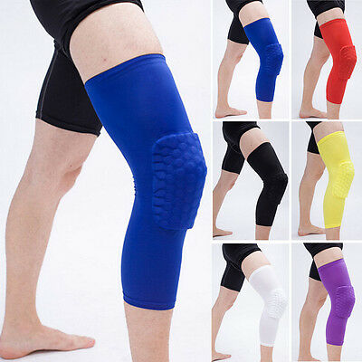 Honeycomb Bein Pad Knee Knieschoner Sleeve Basketball Fußball Handball Gr,S-XL