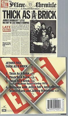 Cd--Jethro Tull--Thick As A Brick