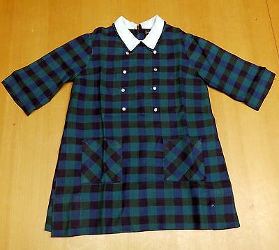 Vintage 'St Michael' Girls Checked Wool Dress 1960s - Excellent Condition