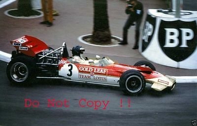 Jochen Rindt Gold Leaf Team Lotus 49C Winner Monaco Grand Prix 1970 Photograph 3