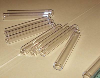 PACK 5 GLASS TEST TUBES RIMLESS 125MM x 16MM LAB