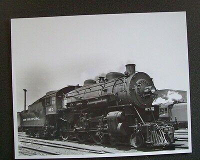 Nyc New York Central System 4-6-0 #862 Steam Locomotive 8X10 B&w Photo