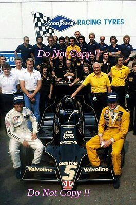 Ronnie Peterson & Mario Andretti JPS Lotus Italian Grand Prix 1978 Photograph