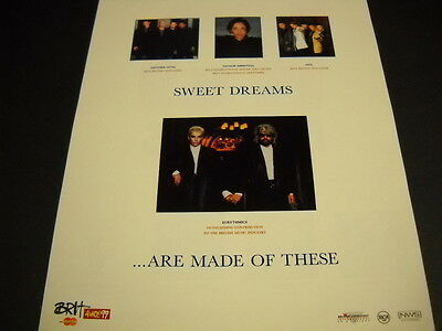 EURYTHMICS Natalie Imbruglia FIVE Another Level Promo Poster Ad mint condition