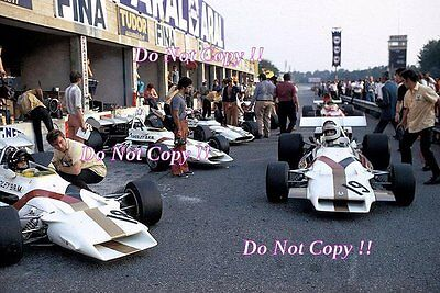 Yardley BRM F1 Team Pit Area Italian Grand Prix 1971 Photograph