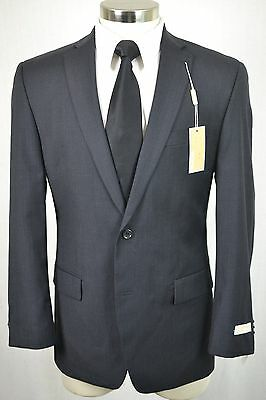 (40R) NEW Michael Kors Men's Charcoal Gray MOD Flat Front 2 Piece Suit (33x36)