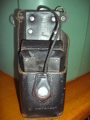 Motorola NTN8381B Leather Radio Holster Case~1505651Z02~HT1000 XTS 3000,3500.500