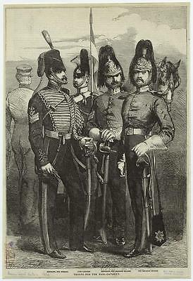 British Army Empire 1854 Cavalry Officers Swords 6x4 Inch Print