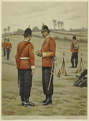 British Army Empire Soldiers Sergeants 19th Century Red Tunics 7x5 Inch Print