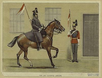 British Empire Army The 16th Queen's Lancers 1800's Cavalry 6x5 Inch Print