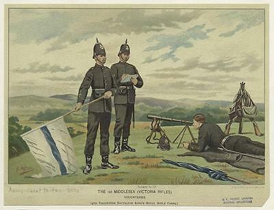 British Empire Army The 1st Middlesex Victoria Rifles 1800's 6x5 Inch Print