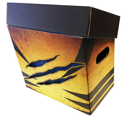 WOLVERINE Style Art Comic Book Storage Box - Slash Holds 125-140 Comics