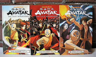 Avatar The Last Airbender Lot 3 Graphic Novel The Search Smoke & Shadow PB