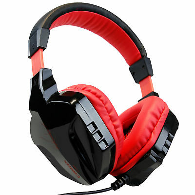 EACH G9000 RED USB 7.1 Surround Sound PC Laptop Gaming Headphone Headset w/ MIC