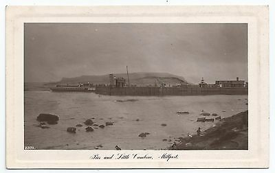 POSTCARD-SCOTLAND-MILLPORT-RP. A Steamer at The Pier and Little Cumbrae.