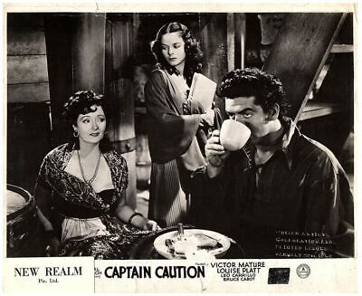 Captain Caution Original British Lobby Card 1940 Victor Mature Louise Platt