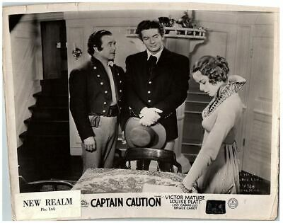 Captain Caution Original Lobby Card 1940 Victor Mature Louise Platt Leo Carillo