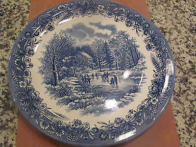 "Churchill Currier & Ives, Heritage Mint Early Winter 12 1/2"" plate"