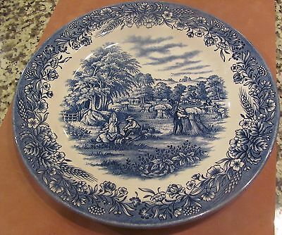 "Churchill Currier & Ives, Harvest Heritage Mint four 10 1/4"" dinner plates"