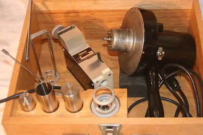 Brookfield Synchro Lectric Lvf  Viscometer Model D Clamp +  Accc. In Wooden Case