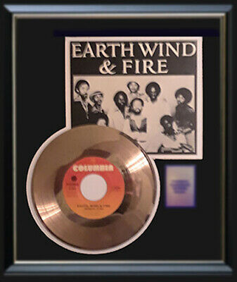Earth Wind & Fire Shinning Star Rare Gold Record Disc Original Vintage 45 Rpm