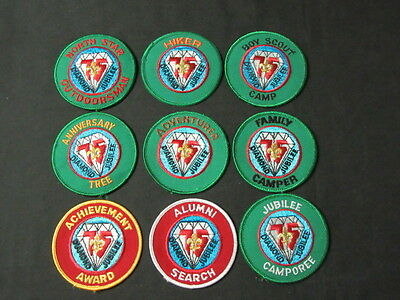 Boy Scouts of America 75th Anniversary Patch Lot of 18 including Philmont cjp x1