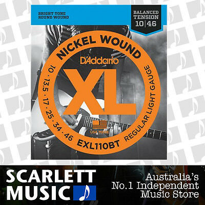 D'Addario EXL110BT Balanced Tension Electric Guitar Strings 10-46 Daddario