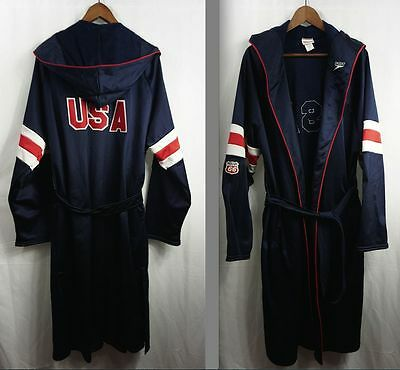vintage USA SWIMMING TEAM PARKA - Speedo Olympic Phillips 66 Patch jacket/robe