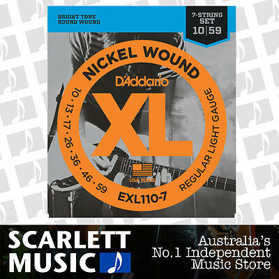 D'Addario EXL110-7 7 String Electric Guitar Strings 10-59 Daddario EXL-110-7