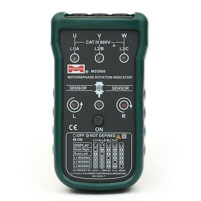 MASTECH MS5900 Electrical Tester Motor 3-Phase Rotation Indicator Meter