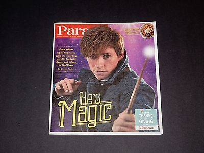 Parade Magazine Eddie Redmayne Fantastic Beasts and Where To Find Them Issue NEW