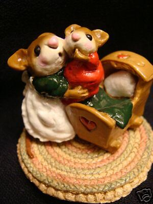 Wee Forest Folk Special Clr Christmas Beddy Bye Mousey