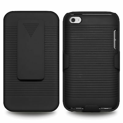 Amzer Shellster - Black For Apple iPod Touch 4th Gen