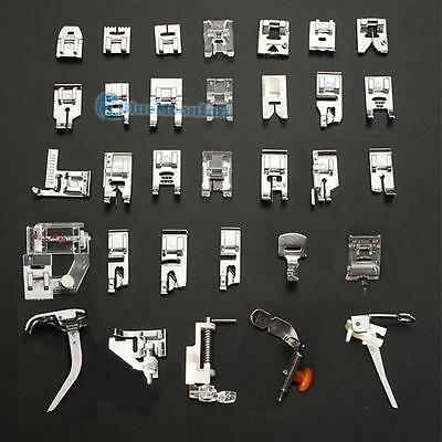 32 Sewing Machine Feet Kit Presser Domestic For Janome Kenmore Brother Sewing BM