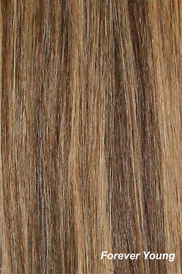 """16 18 20"""" Mix Brown Blonde Clip in HUMAN HAIR EXTENSION"""