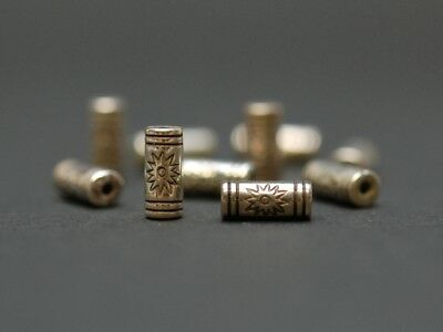 10x Versilbertes Element - Walze, 5x10 mm /0765
